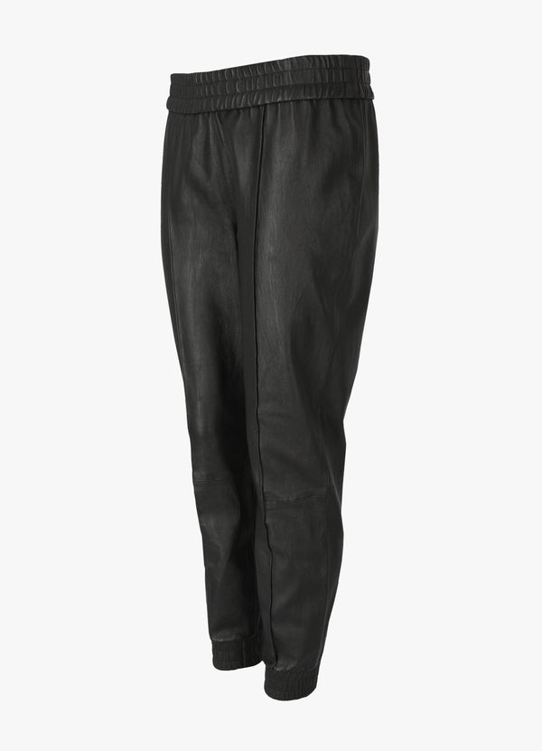 LOOSE FIT LEATHER JOGGERS
