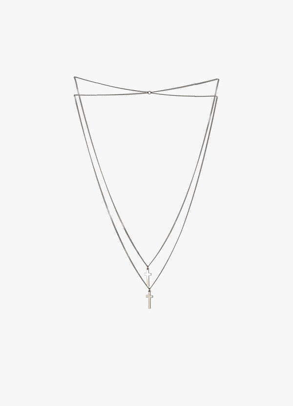 DSQUARED2 DOUBLE CROSS NECKLACE Jewellery 300018412