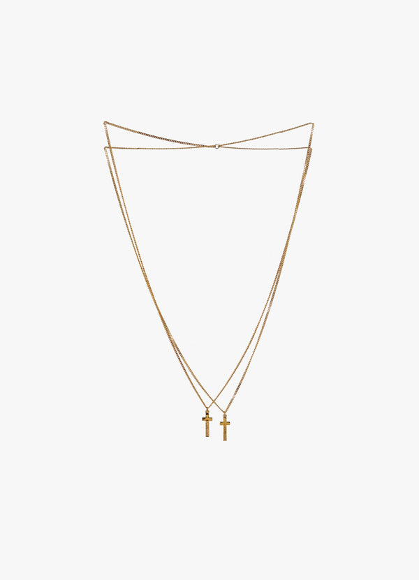 DSQUARED2 DOUBLE CROSS NECKLACE Jewellery 300025972