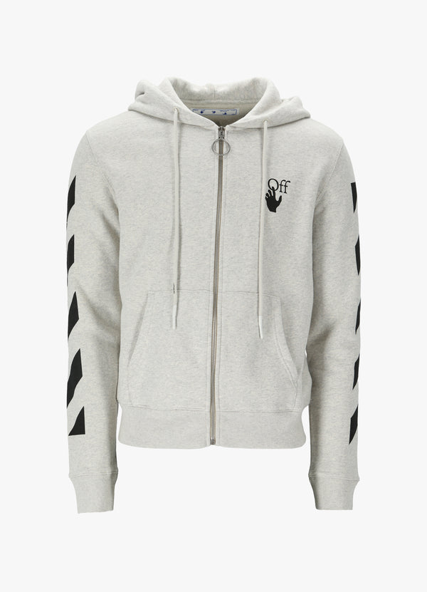 OFF-WHITE DIAG AGREEMENT ZIPPED HOODIE Sweatshirts 300018919