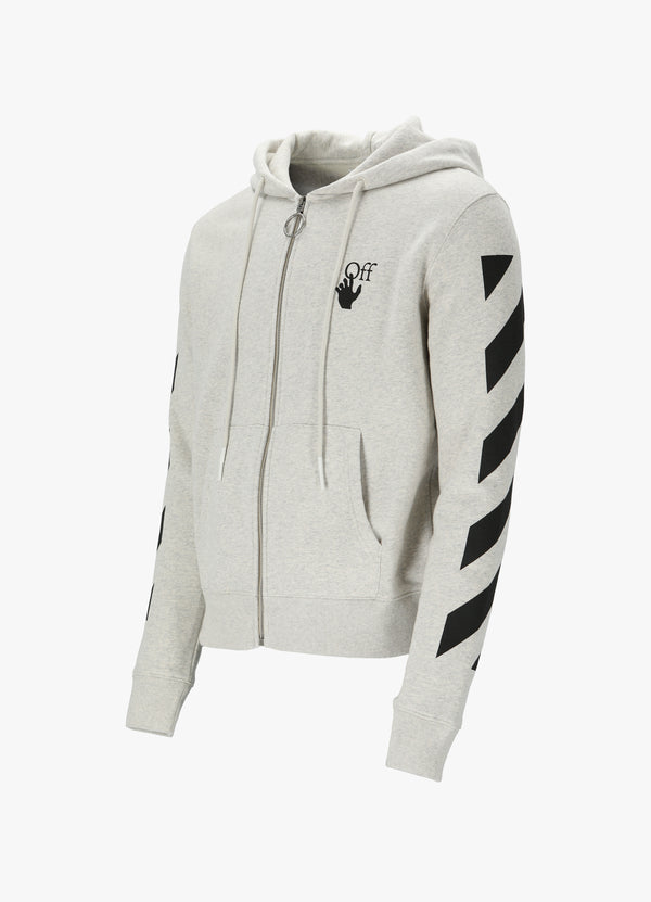 OFF-WHITE DIAG AGREEMENT ZIPPED HOODIE