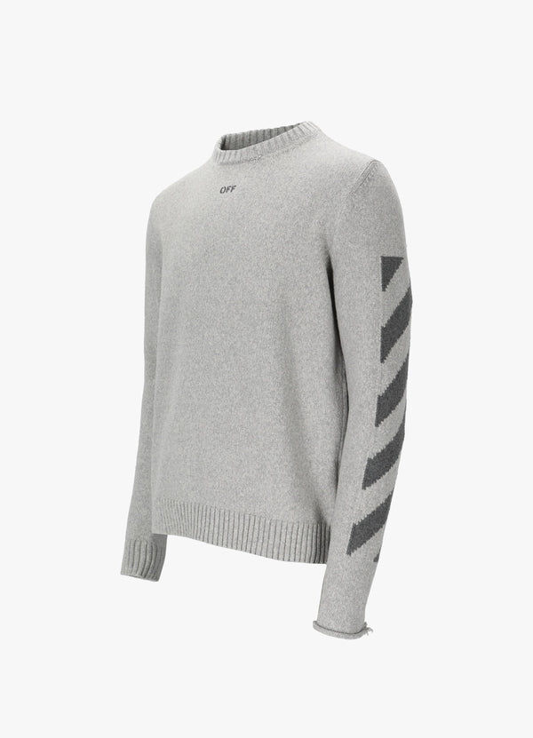 DIAG KNIT SWEATER