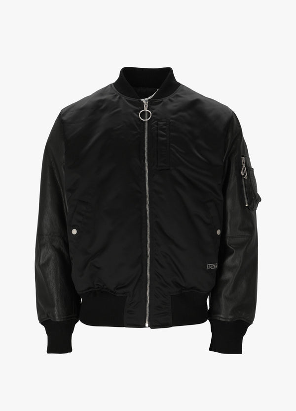 ARROW LEATHER BOMBER JACKET