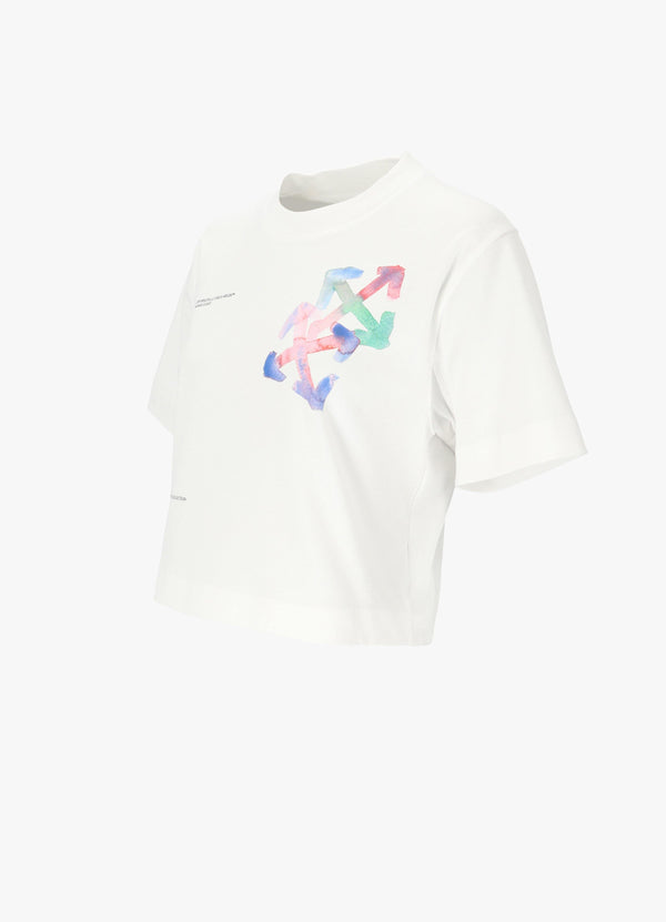 WATERCOLOR ARROWS CROP TEE