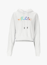 OFF-WHITE RAINBOW CROPPED HOODIE Sweatshirts 300018757