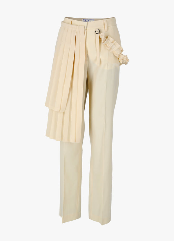 OFF-WHITE GABARD CURTAINS PANEL PANT Pants 300020281