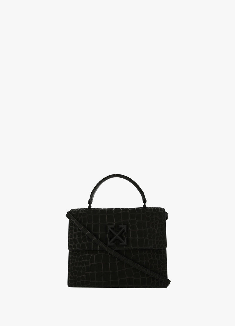 OFF-WHITE 2.8 CROC EFFECT JITNEY BAG Top Handle Bags 300019119