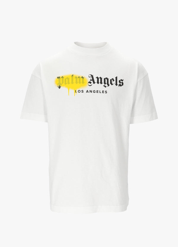 LA SPRAYED LOGO TEE