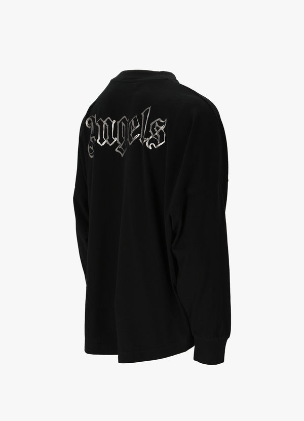 PALM ANGELS BLANK LOGO OVER TEE