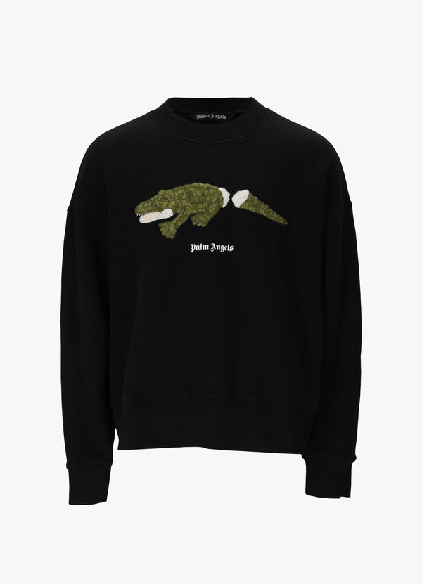 PALM ANGELS CROCO CREWNECK SWEATSHIRT Sweatshirts 300031256