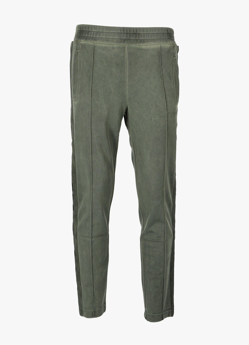 PALM ANGELS SLIM GARMENT DYED TRACK PANTS Trousers 300023357