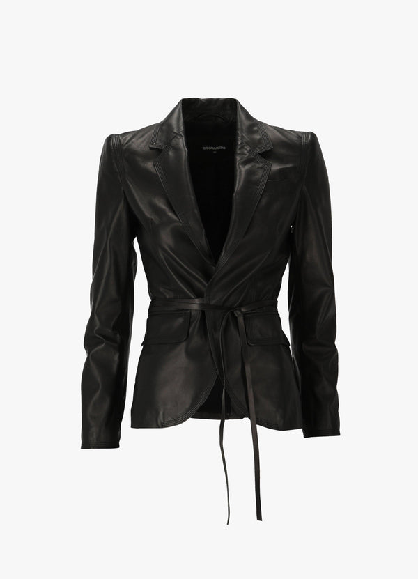 Dsquared2 Leather Roxy Jacket S75BN0789 SY1545