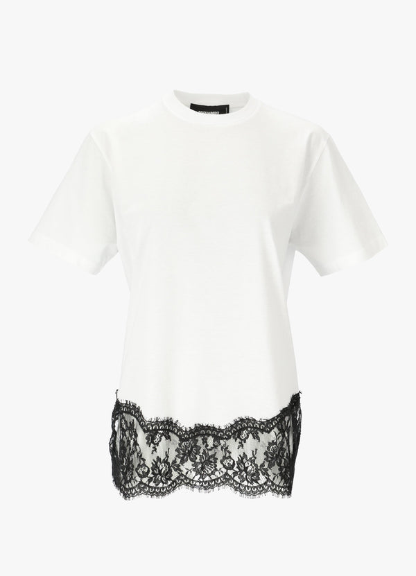 LACE EMBELLISHED TEE