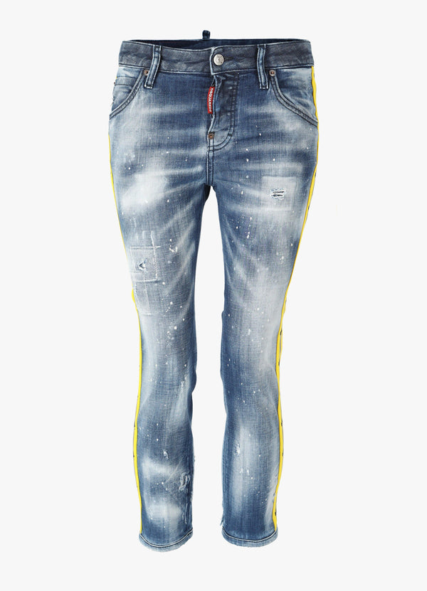 DSQUARED2 TAPE COOL GIRL CROPPED JEANS Jeans 300026805