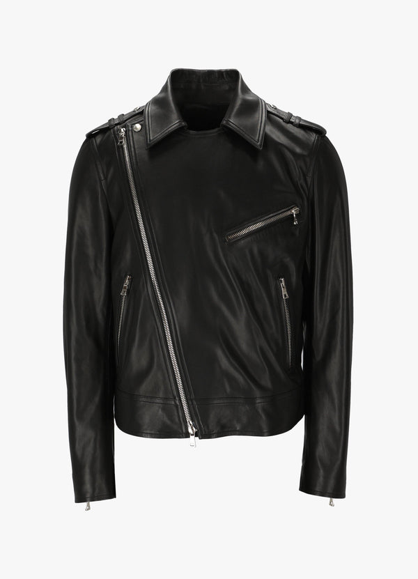 BALMAIN LEATHER BIKER JACKET Jackets 300034522