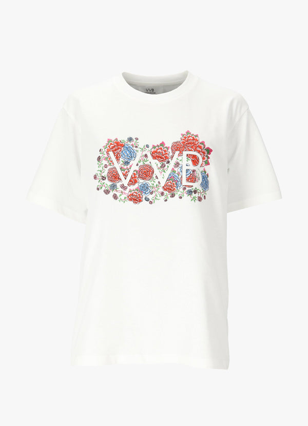 VICTORIA VICTORIA BECKHAM EMBROIDERED FLORAL T - SHIRT T-Shirts 300035373