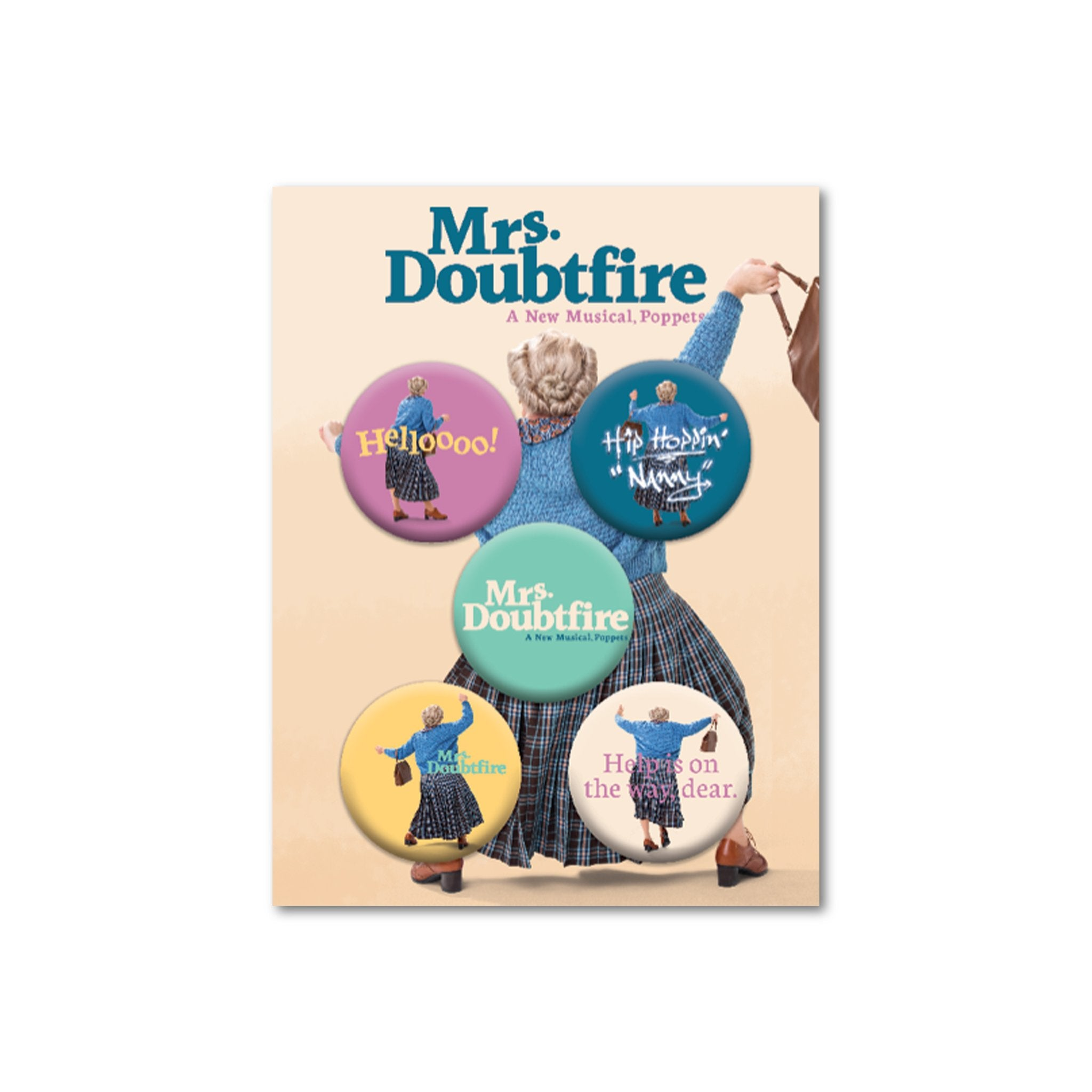 MRS DOUBTFIRE Button Set Image