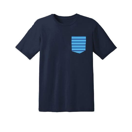 DEAR EVAN HANSEN Stripe Collection Navy Pocket Tee