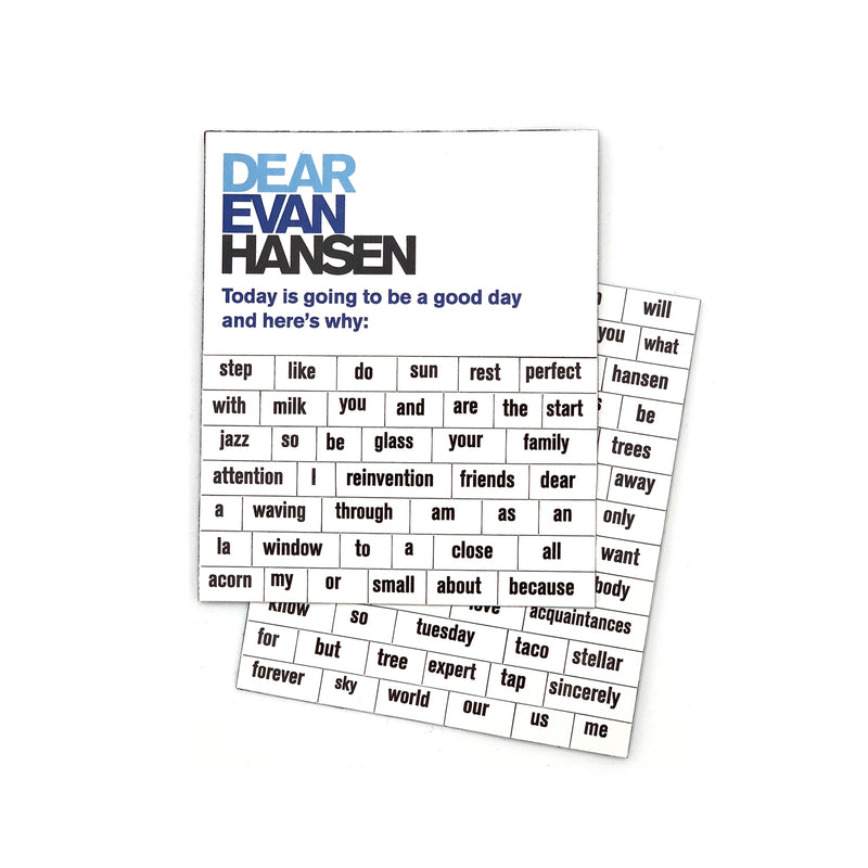 DEAR EVAN HANSEN Poetry Magnet Set