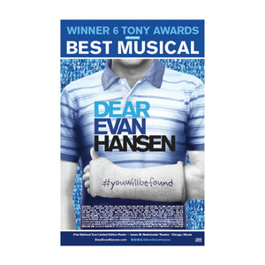 DEAR EVAN HANSEN Windowcard - Chicago
