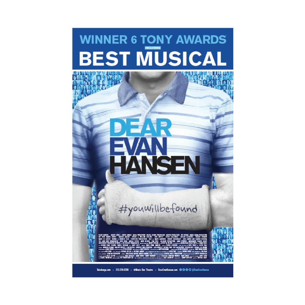 DEAR EVAN HANSEN Windowcard - New York Image