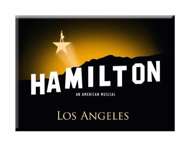 HAMILTON Los Angeles Button Magnet