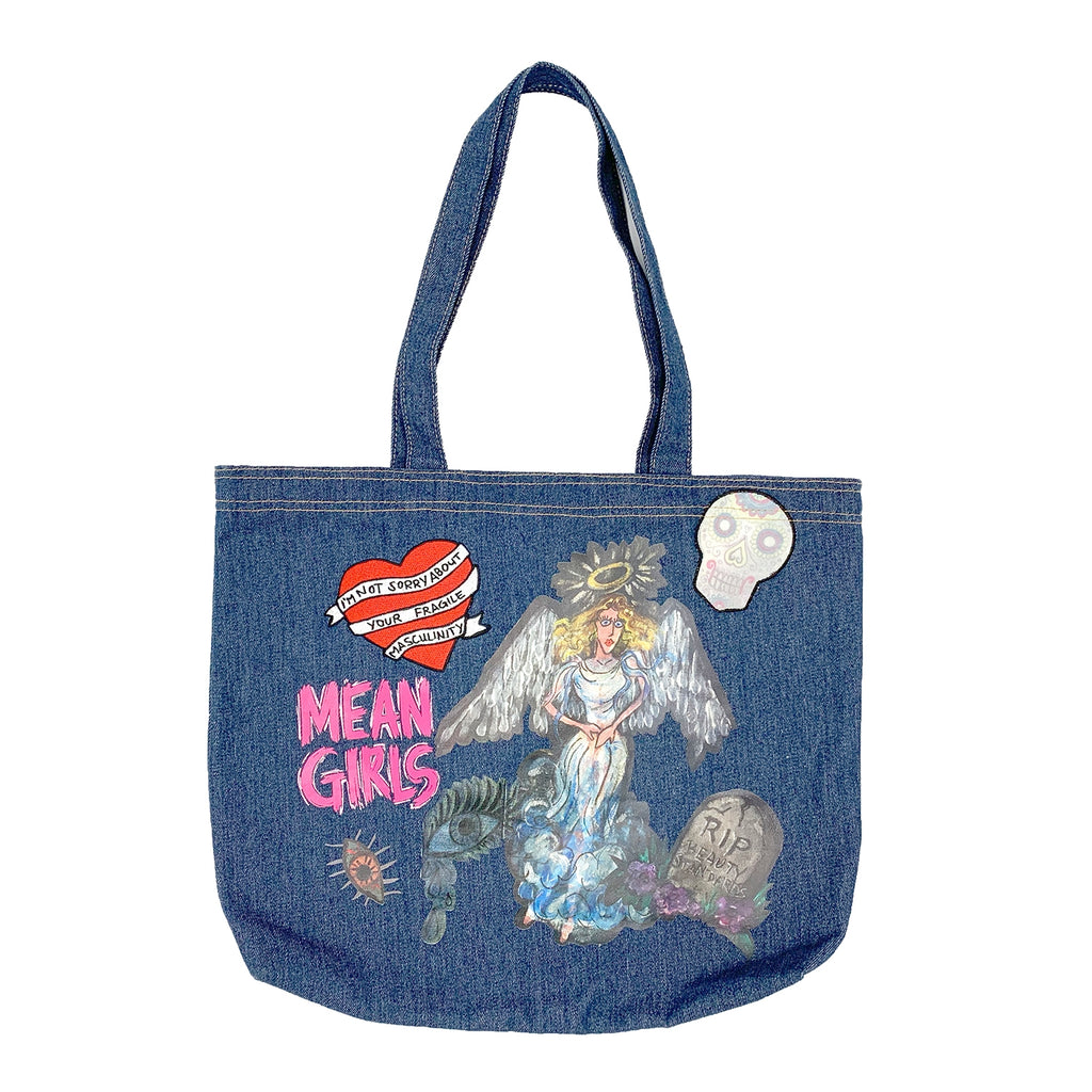 MEAN GIRLS Denim Tote Bag