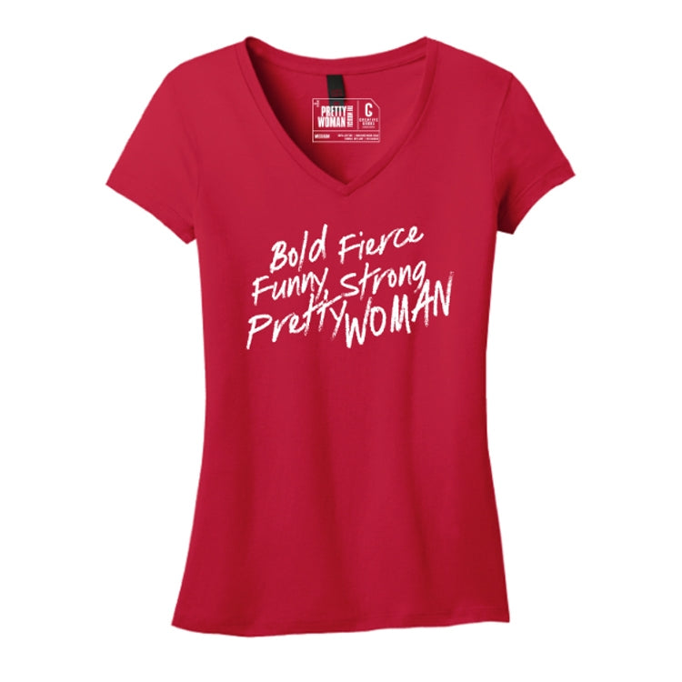 PRETTY WOMAN Fitted V-Neck Tee