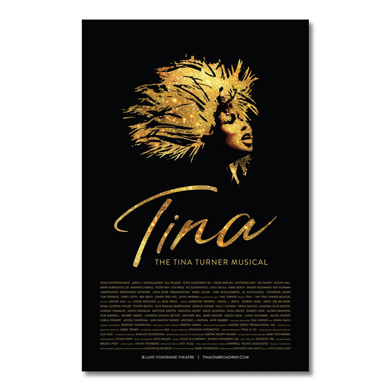 TINA Broadway Windowcard