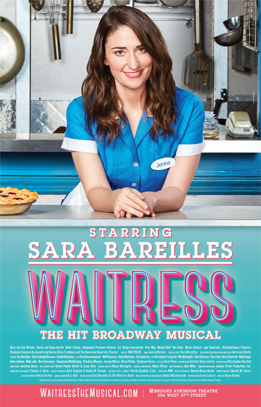 WAITRESS Sara Bareilles Windowcard