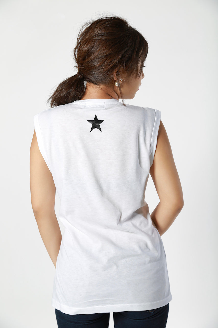 Gold Studs Chappy No Sleeve T-shirt