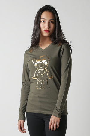 Metallic Outline Chappy Long-T [mens]