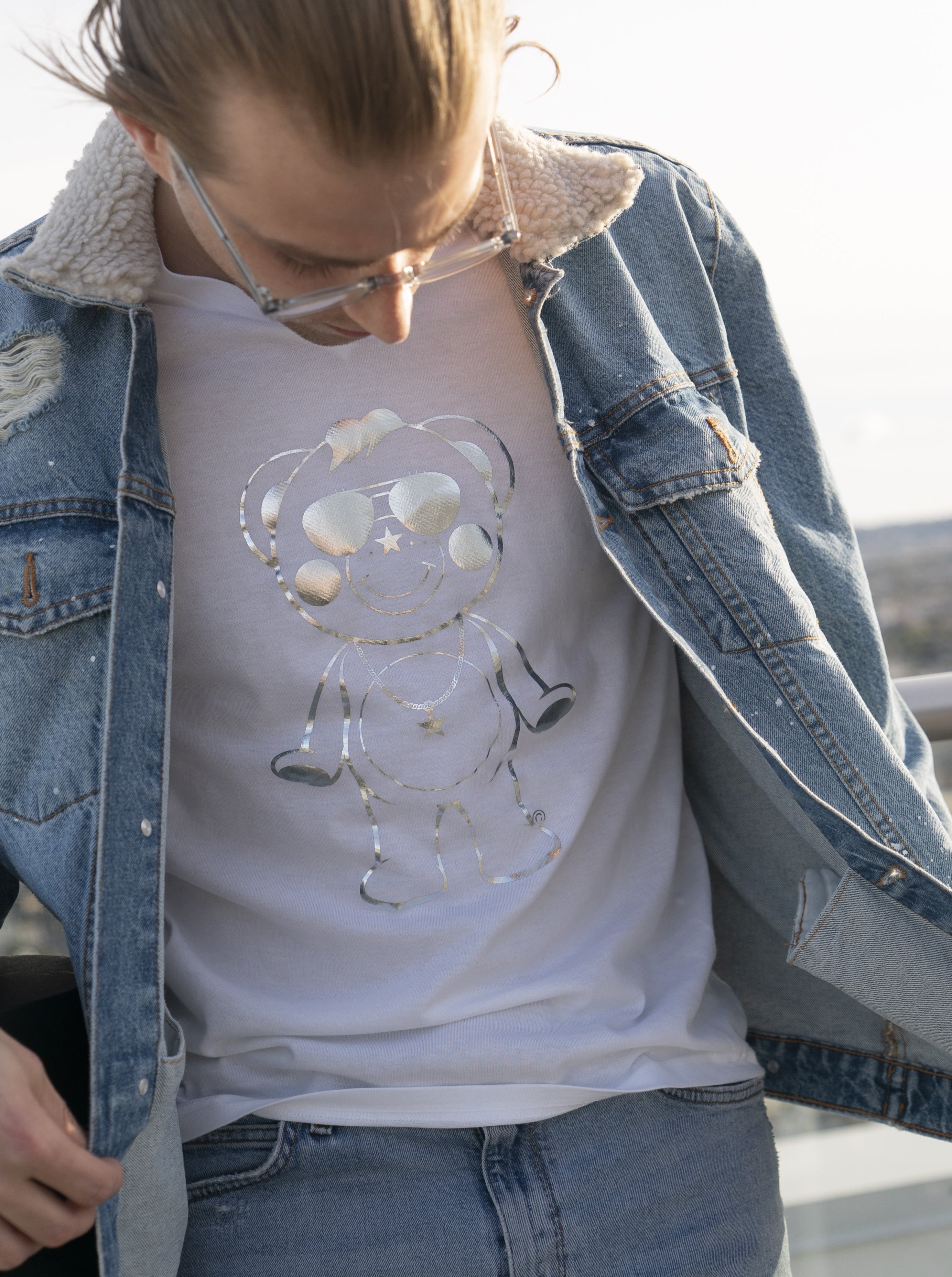 Metallic Outline Chappy Long-T
