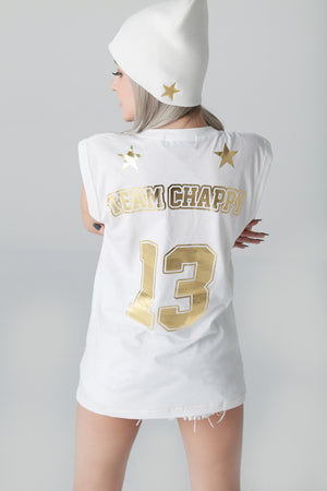 Gold Studs Chappy No Sleeve T-shirt [Gold Edition]