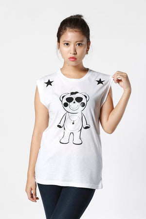 Outlined Chappy No Sleeve T-shirt