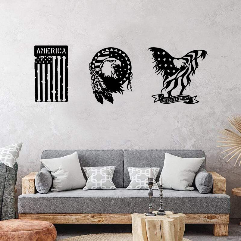 American Wall Decor Pack - 3 Products