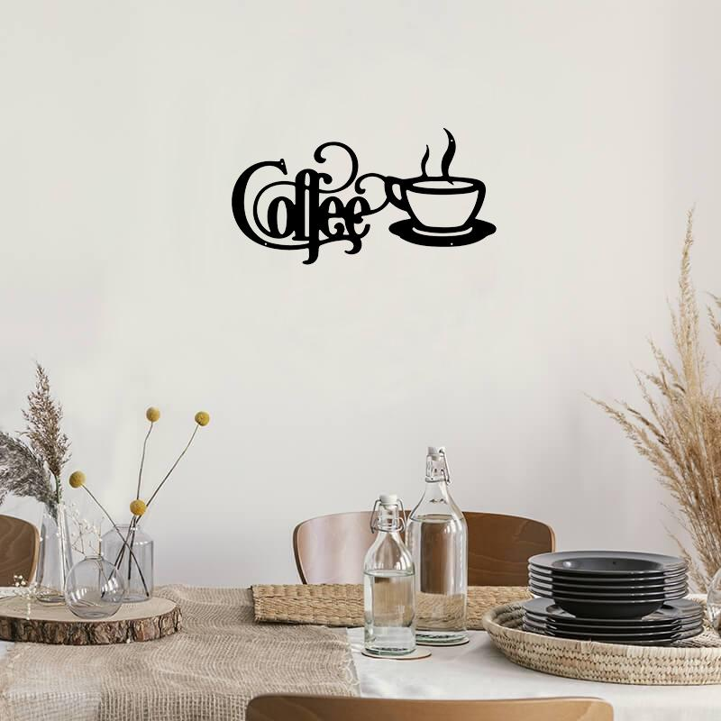 Coffee With Mug - Metal Decor
