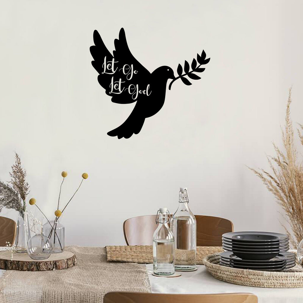 Let Go Let God Dove - Steel Decor