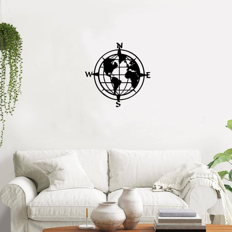 World Compass - Metal Decor