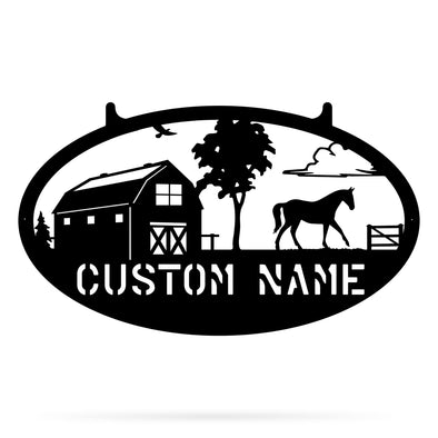 Horse Farm Monogram - Custom