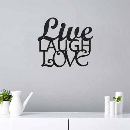 Live Laugh Love - Steel Decor