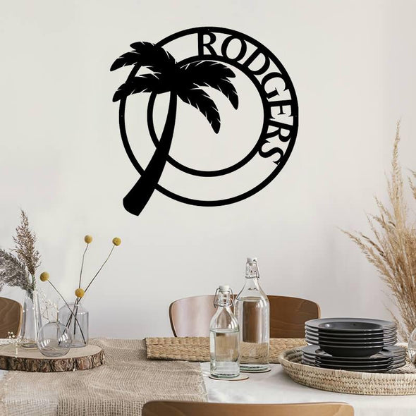 Palm Tree Monogram - Custom