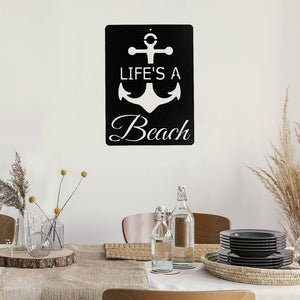Life's A Beach Sign - Metal Decor