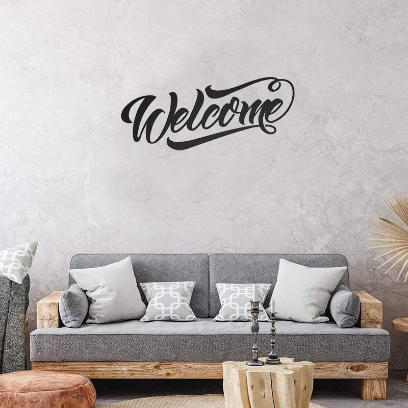 Welcome Fancy Script - Metal Decor