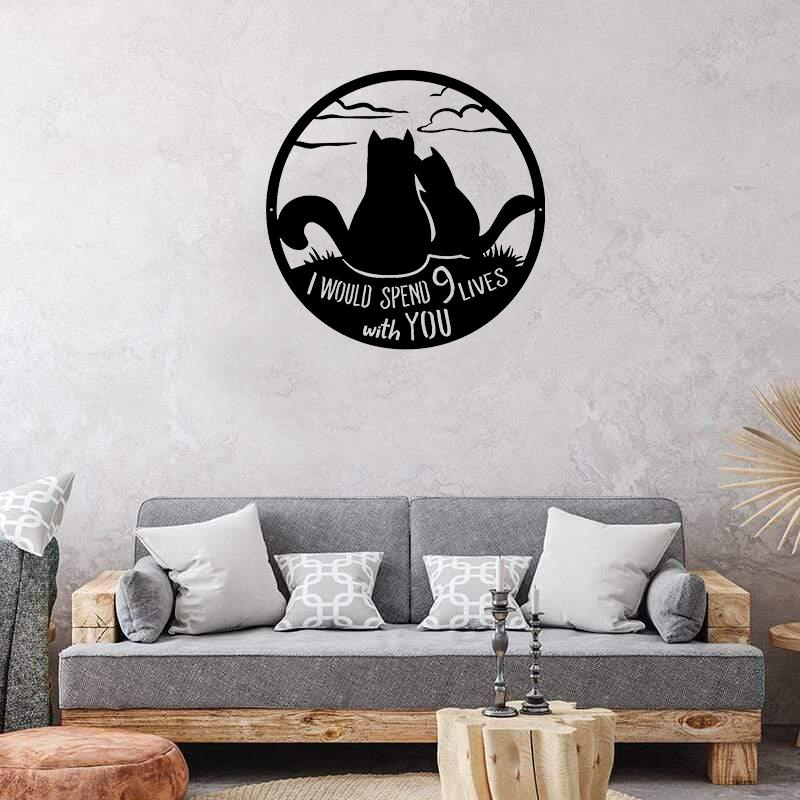 Cat Love - Metal Decor