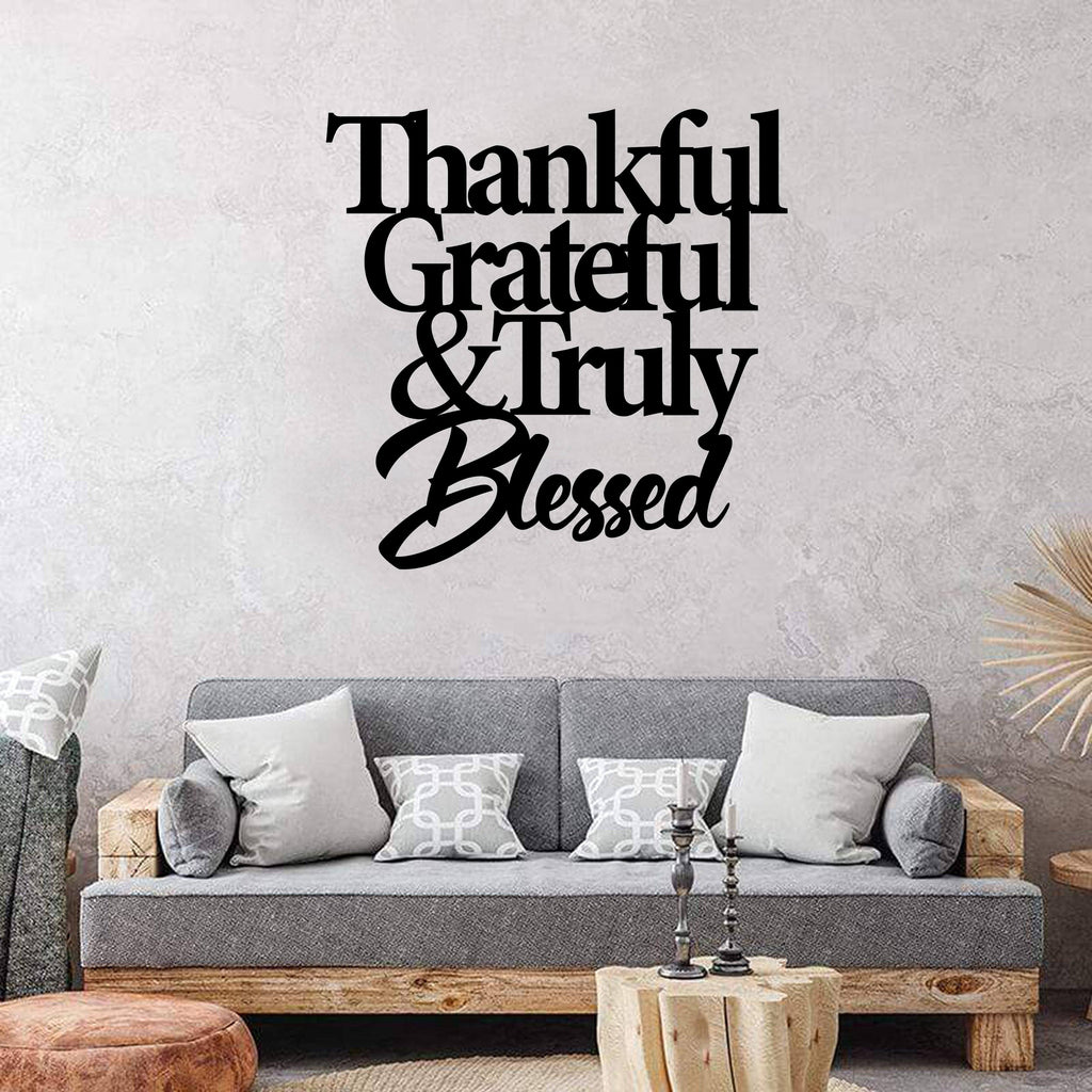 Thankful Quote - Steel Decor