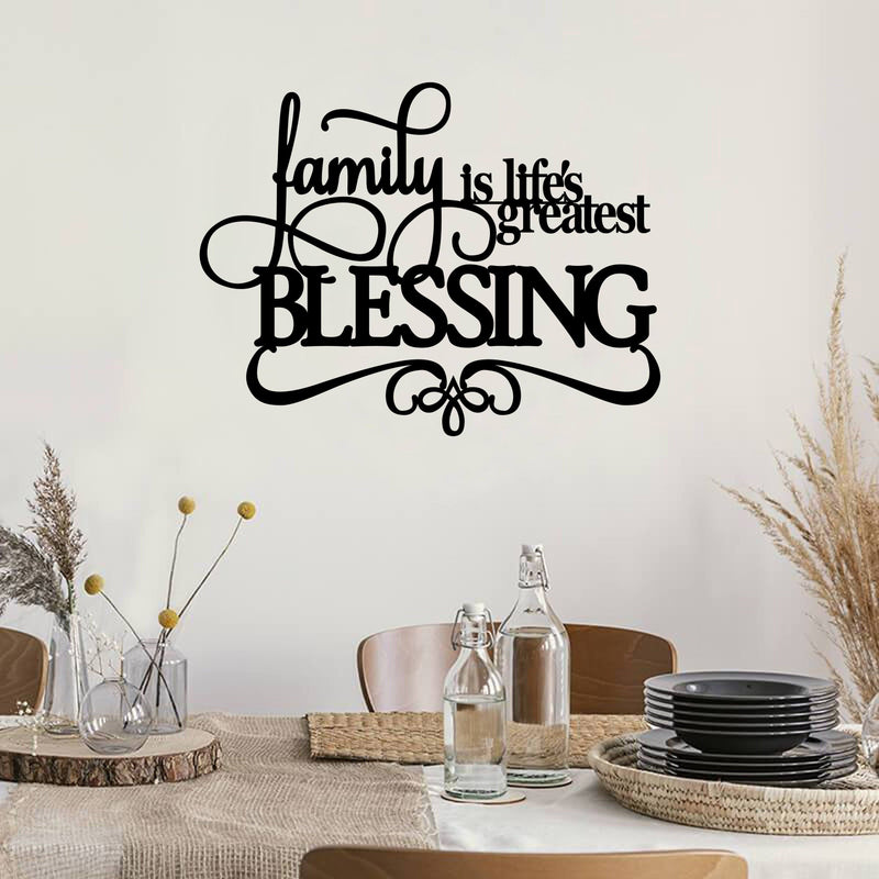 Family Quote - Metal Decor
