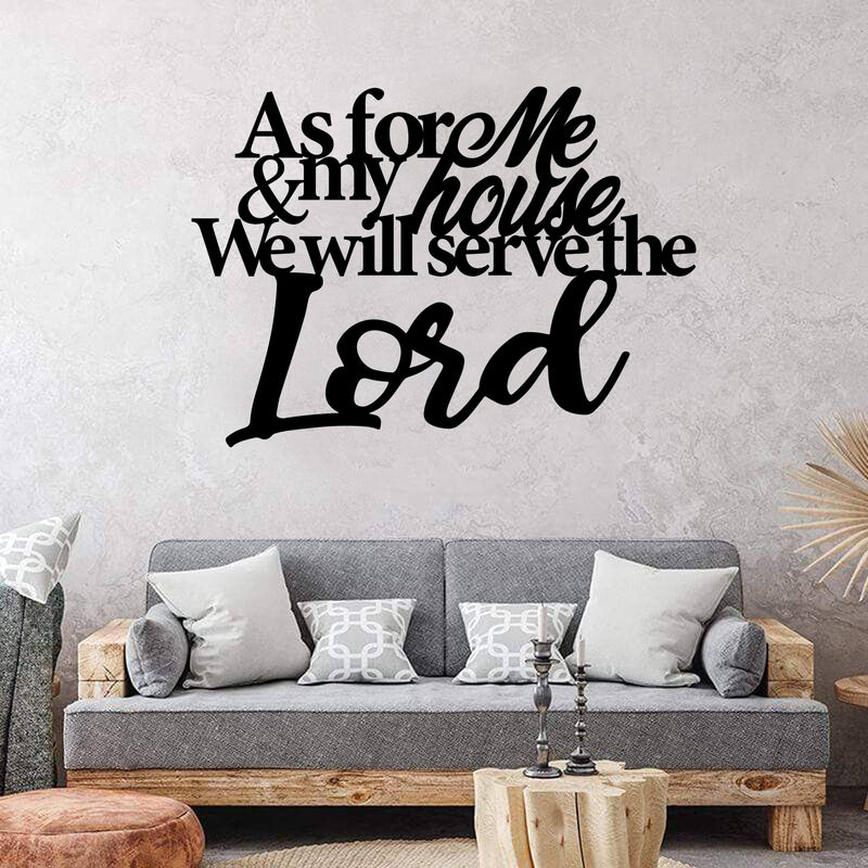 Serve The Lord Quote - Steel Decor