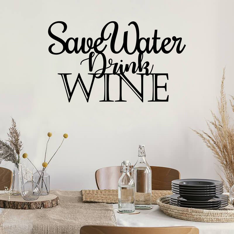 Wine Quote - Metal Decor