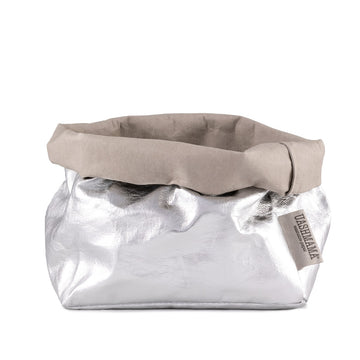Paper Bag : Metallic : Silver